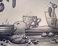 Paper Placemats Illustration