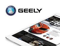 Geely Website Concept
