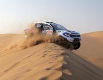 Ford Racing ranger testing Walvis Namibia.