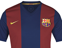 Four retro Jerseys for Fc Barcelona.