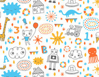 Sweet Doodles fabric design