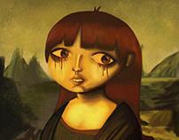 Self portrait in Mona Lisa twist (December 2013)