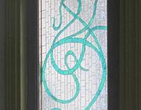 Art Deco mosaic sidelight