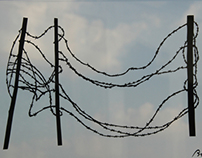 Papercut Art #36 - barbed wire