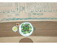 MILK X MONTHLY MAGAZINE breakfast illustrations