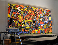 Grupo Pachuca - Diseño de mural