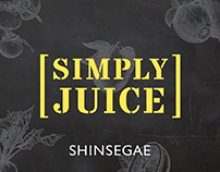 SHINSEGAE Simply Juice Brand eXperience Design