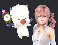 Serah Farron and Mog - Final Fantasy XIII Tribute