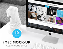 iMac Mock-Up Clean Style (10 PSD)