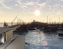 Port for 700 berthings and super Yachts