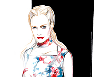 Poppy Delevingne for Giles Deacon
