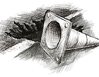 Road Cone Sketch