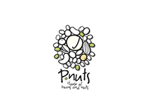P.nuts logo and packaging design