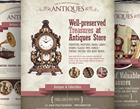 Antique Store Flyer Templates