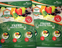 Fresh Fruits Menu Food Flyer