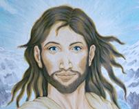 Jesus Christ gouache painting