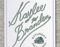 Kaylee & Branden Invitations