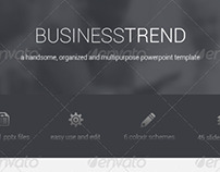 Business Trend Powerpoint Presentation Template