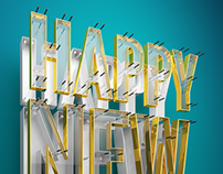 2014 New Year Typography