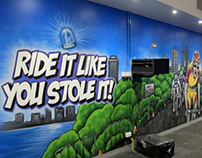 Gym Spin Class Mural