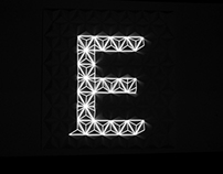 Fragmental - A projection mapping font