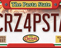 Carino's Bus Signs - Giant Vanity Plates