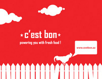 New corporate style for C'est bon food company
