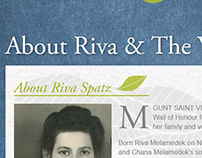 Riva Spatz - women's wall of honor website design