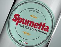 Spumetta Italian drink Label