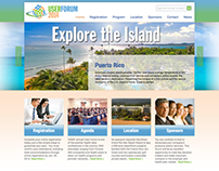 Healthcare Data Conference Website Design