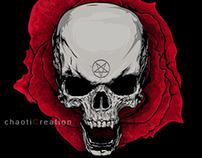 Skull Of Rose