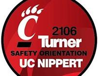 UC- Construction Worker Helmet Sticker Design