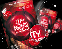 City Nights Disco Flyer Templates