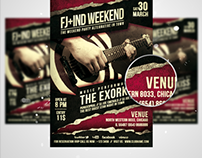 The Exorkiss Weekend Flyer/Poster