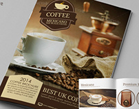 Coffee Brochure Template Din A4 | Modern Design