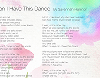 Savannah Harmon CD Sleeve