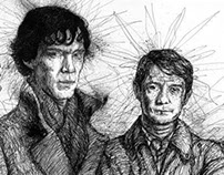 Sherlock (Pen And Ink)