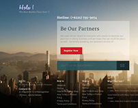 Landing Page for www.hola.co.id