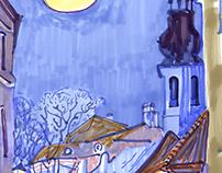 Tallinn impressions, markers.