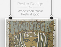 Woodstock Music Festival 1969 | Poster Design