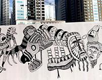 Al Qasba Street Art Fiesta, Sharja, UAE