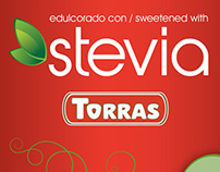 Gama de chocolates con leche con Stevia Torras (2013)