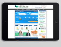 Web Clickline - nacional e internacional (2013)