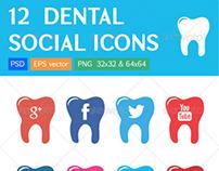 Dental Clinic Social Icons