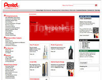 Pentel of America eCommerce Website (IDEA)