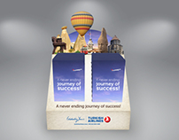 Turkish Airlines / Z Card Brochure & Stand Design