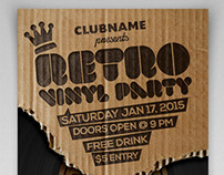 Cardboard Retro Vinyl Party Flyer