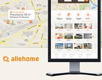 Allehome - Real Estate Search Engine - Web, CI, Design