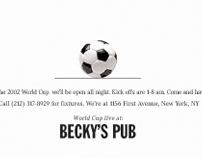 Becky's Pub Print Campaign