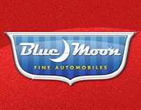 Blue Moon Autos Logo Design